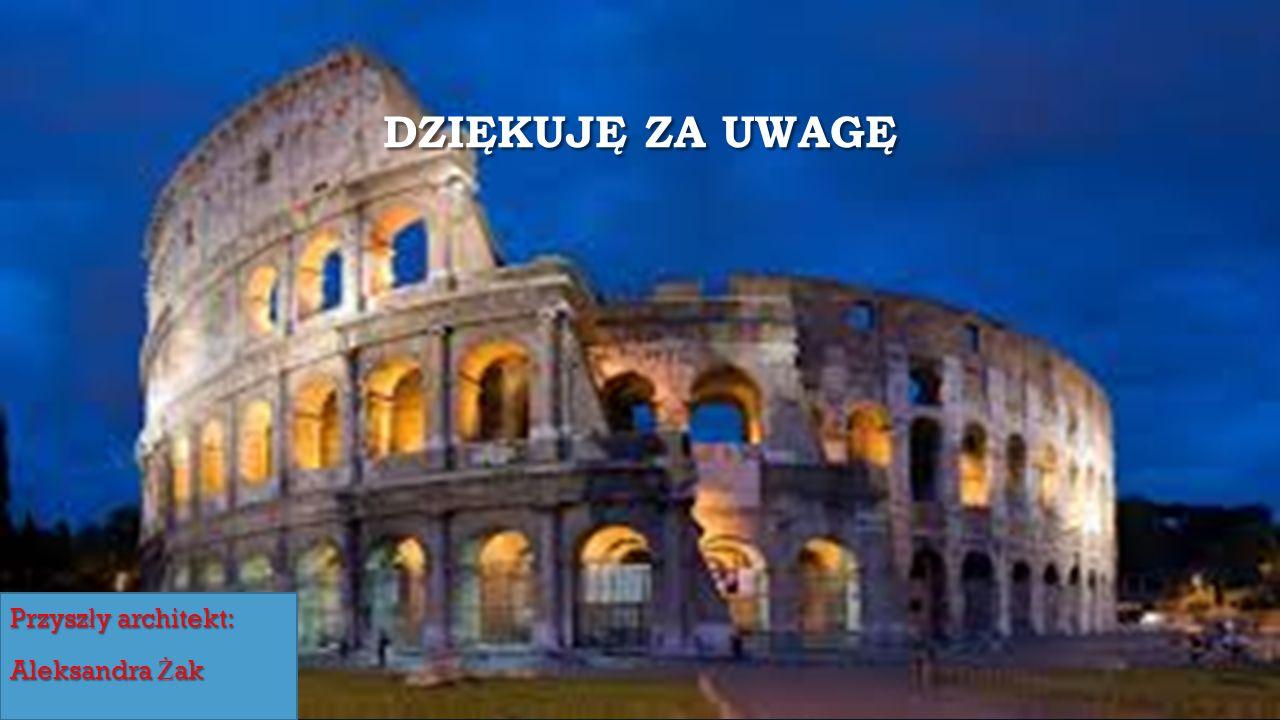 DZIĘKUJĘ ZA UWAGĘ Przysz ł y architekt: Aleksandra Ż ak