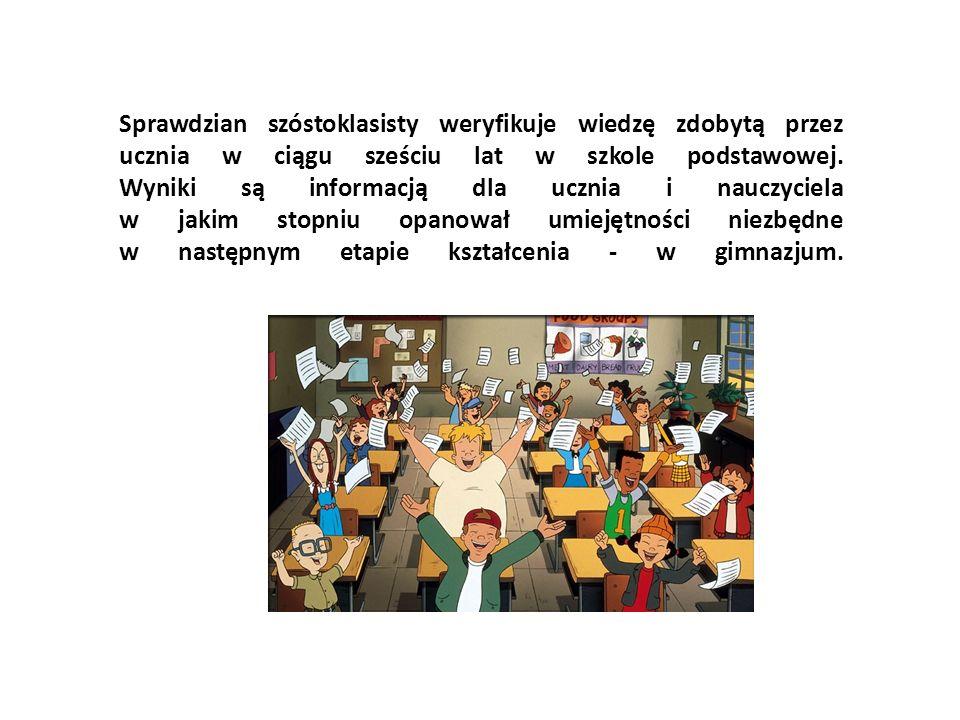 Sprawdzian szóstoklasisty weryfikuje wiedzę zdobytą przez ucznia w ciągu sześciu lat w szkole podstawowej. Wyniki są informacją dla ucznia i nauczycie