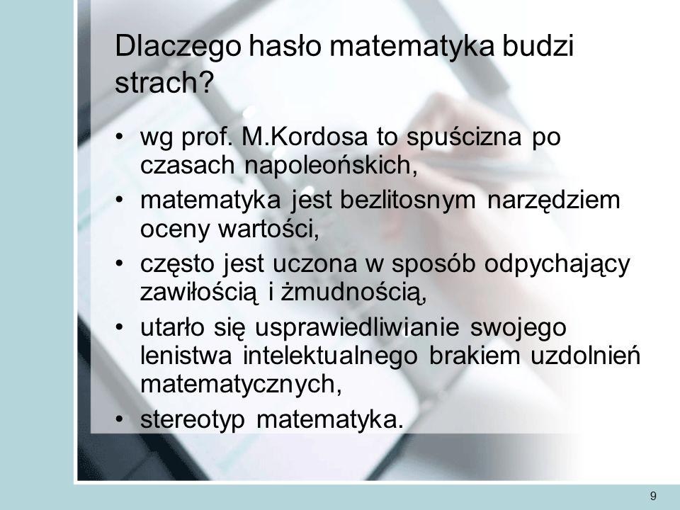 10 Matematyka nauką humanistyczną Według ks.prof.