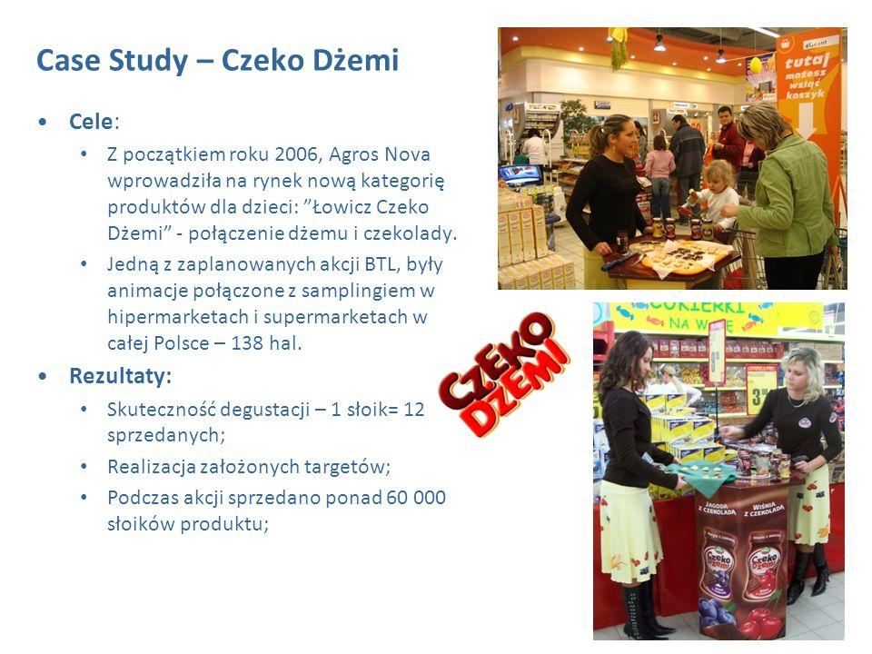 2 Cele: Z początkiem roku 2006, Agros Nova wprowadziła na rynek nową kategorię produktów dla dzieci: Łowicz Czeko Dżemi - połączenie dżemu i czekolady.