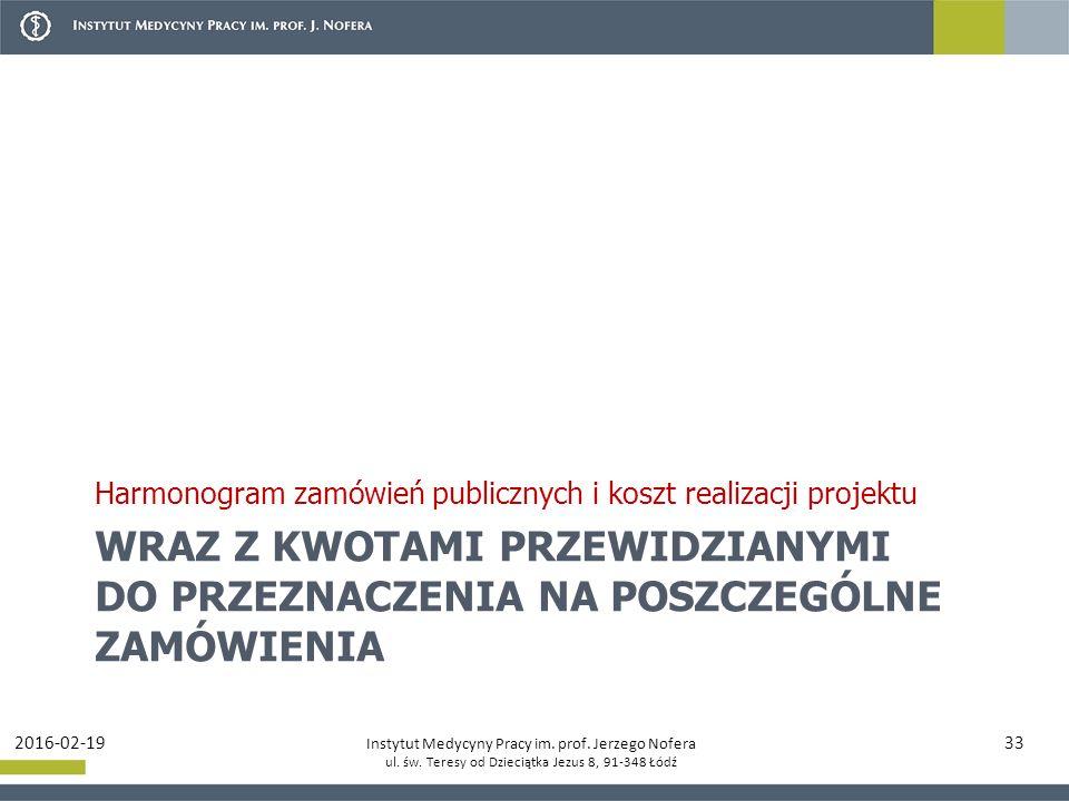 Instytut Medycyny Pracy im. prof. Jerzego Nofera ul.