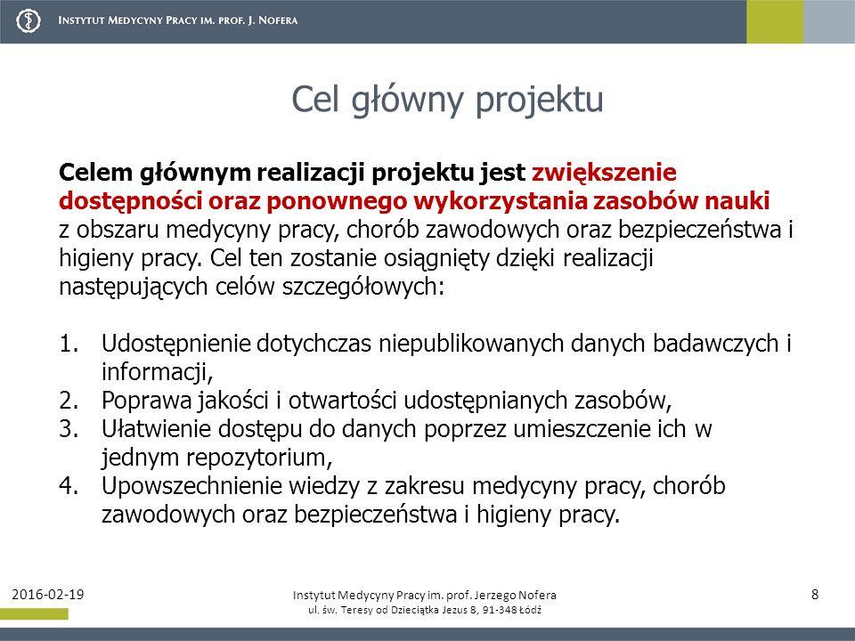 Instytut Medycyny Pracy im.prof. Jerzego Nofera ul.