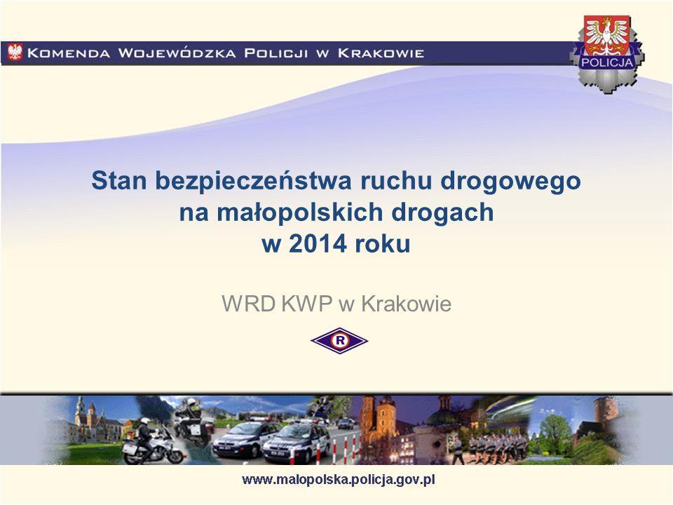 Stan bezpieczeństwa ruchu drogowego na małopolskich drogach w 2014 roku WRD KWP w Krakowie
