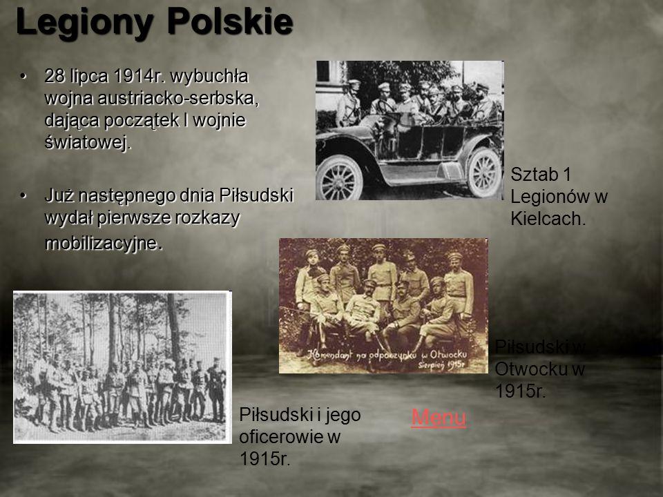 Legiony Polskie 28 lipca 1914r.