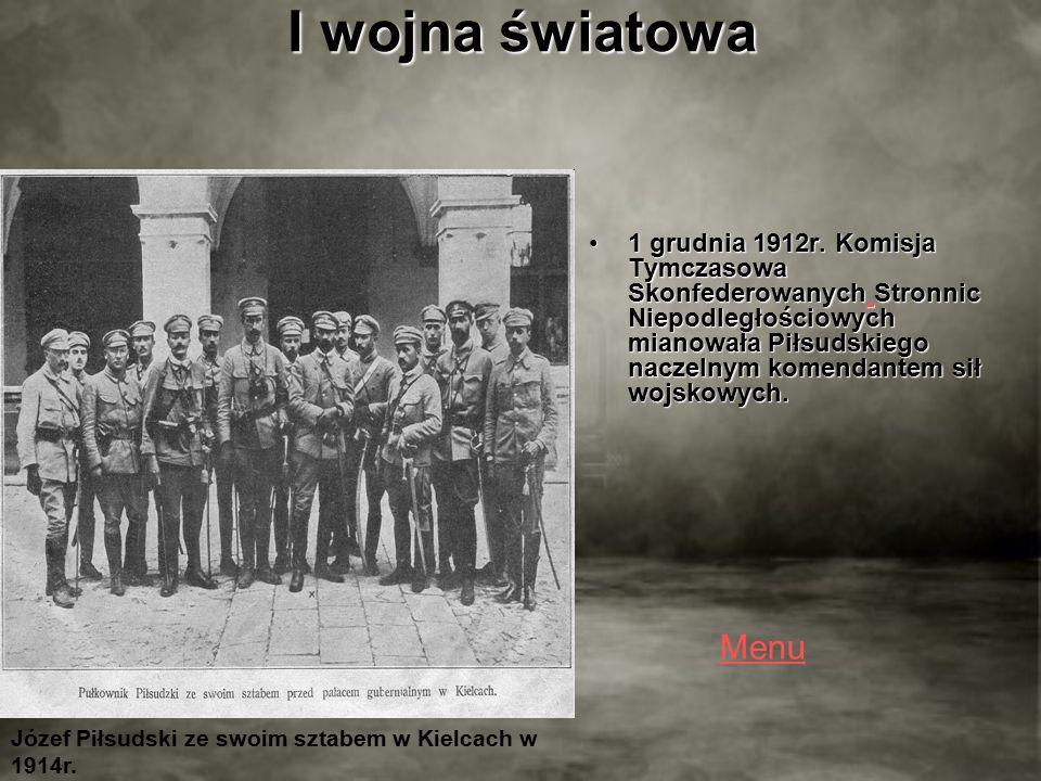 I wojna światowa 1 grudnia 1912r.