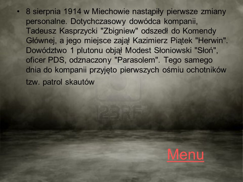 Galeria Pilsudskiego Menu