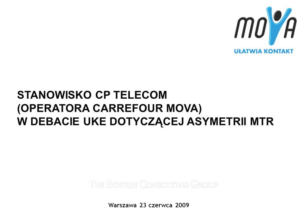 1 Xxxxx-xx/Footer CP TELECOM CP Telecom jest Operatorem Carrefour Mova Carrefour Mova wystartowała 9 kwietnia 2008 roku Oferta dostępna jest w sieci sklepów Carrefour Usługi świadczone są w oparciu o sieć dostępową Polkomtel S.A.