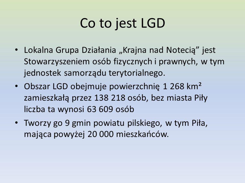 """Co to jest LGD Lokalna Grupa Działania """"Krajna nad Notecią jest Stowarzyszeniem osób fizycznych i prawnych, w tym jednostek samorządu terytorialnego."""