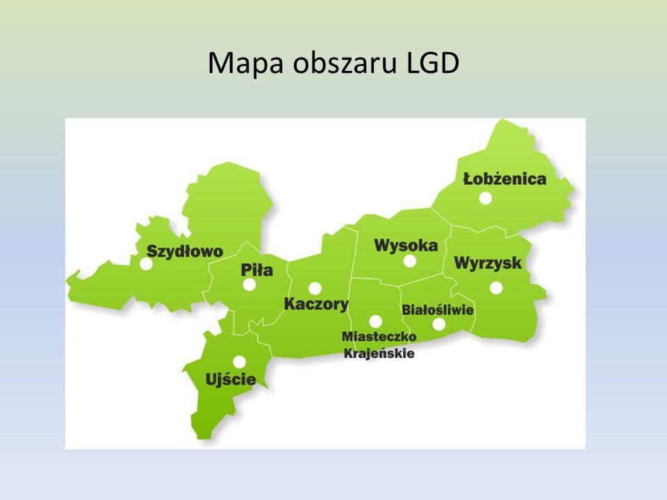 Mapa obszaru LGD