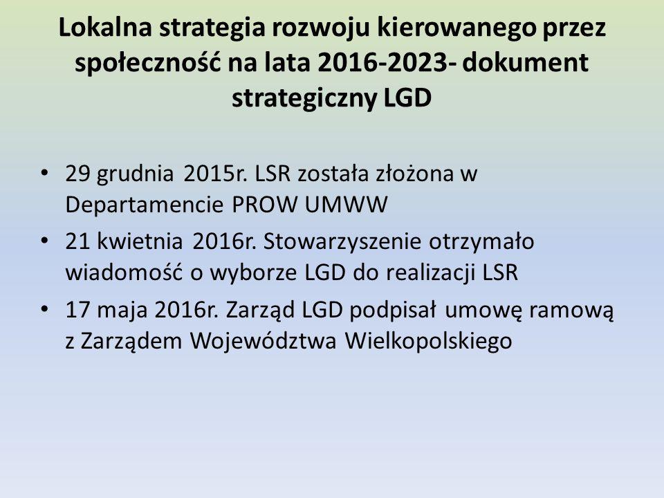Lokalna strategia rozwoju kierowanego przez społeczność na lata 2016-2023- dokument strategiczny LGD 29 grudnia 2015r.