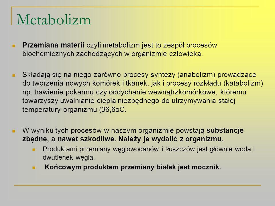 Funkcja układu wydalniczego (moczowego) 1.Wydalanie mocznika.