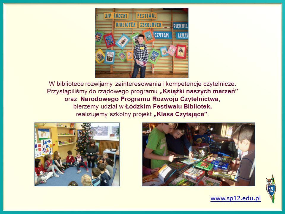 W bibliotece rozwijamy zainteresowania i kompetencje czytelnicze.