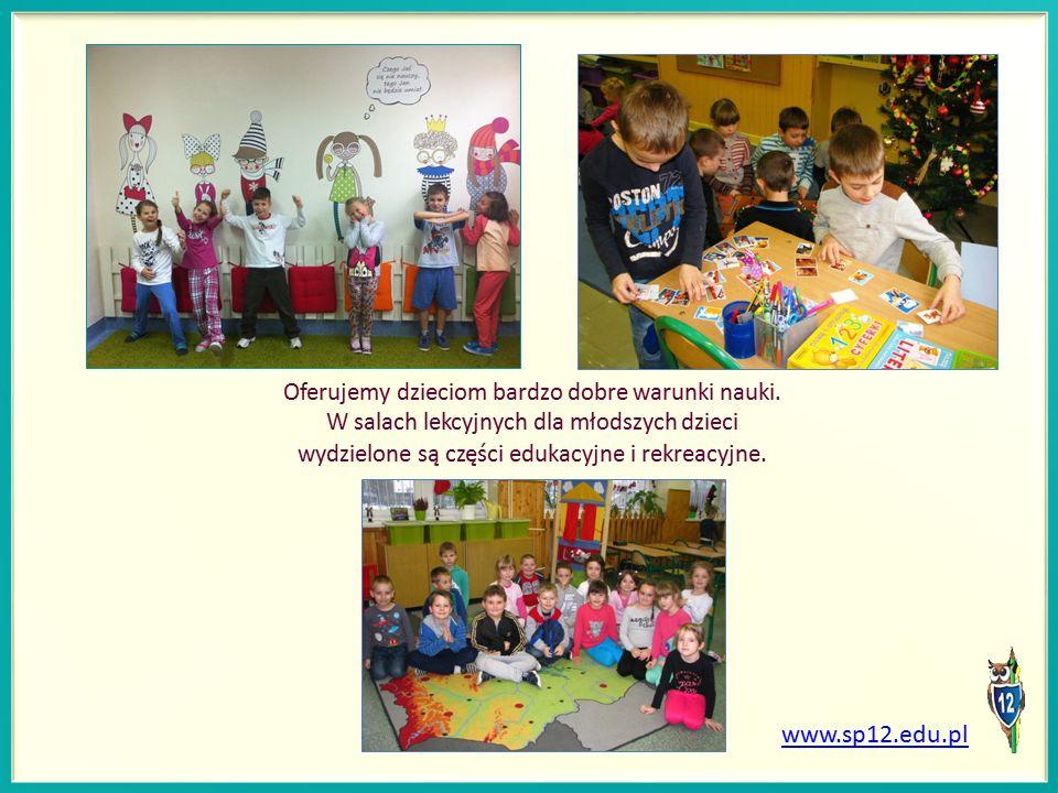 Oferujemy dzieciom bardzo dobre warunki nauki.