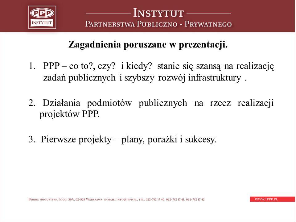 Potencjał PPP – publiczna prywatna 1.Dostęp do zasobów majątkowych strony prywatnej / lokalizacja.