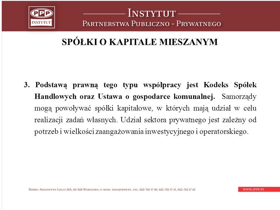 SPÓŁKI O KAPITALE MIESZANYM 3.