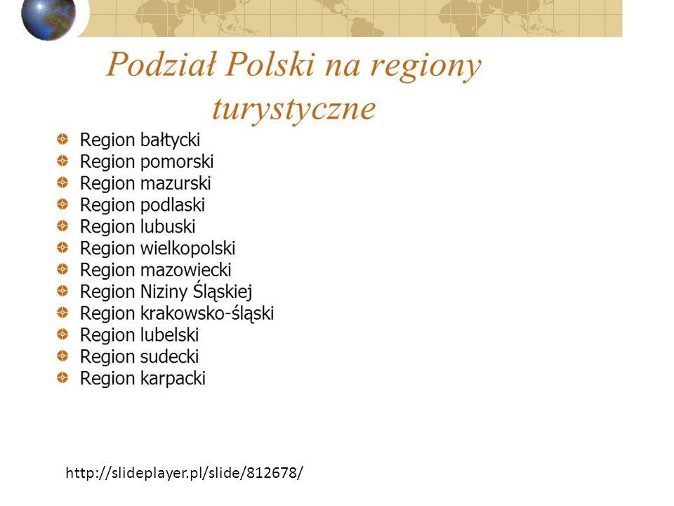 REGIONY TURYSTYCZNE http://slideplayer.pl/slide/812678/