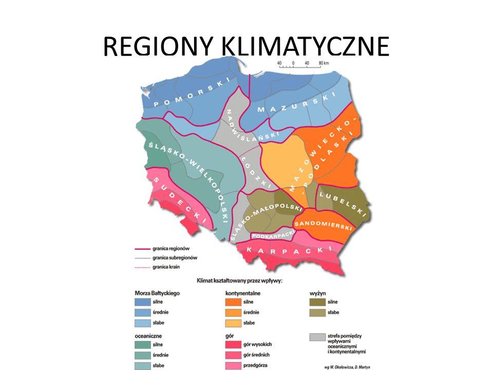 REGIONY KLIMATYCZNE