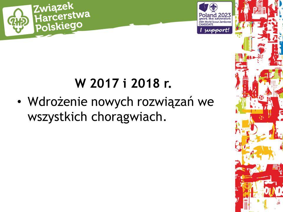 W 2017 i 2018 r. Wdrożenie nowych rozwiązań we wszystkich chorągwiach.