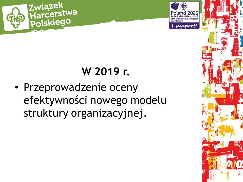 W 2019 r. Przeprowadzenie oceny efektywności nowego modelu struktury organizacyjnej.