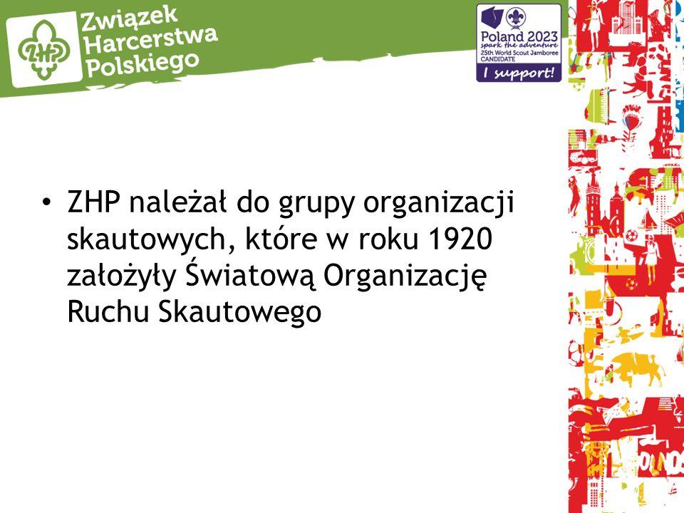 ZHP należał do grupy organizacji skautowych, które w roku 1920 założyły Światową Organizację Ruchu Skautowego