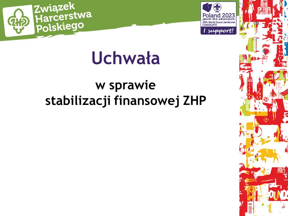 Uchwała w sprawie stabilizacji finansowej ZHP