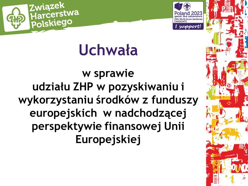 Uchwała w sprawie udziału ZHP w pozyskiwaniu i wykorzystaniu środków z funduszy europejskich w nadchodzącej perspektywie finansowej Unii Europejskiej