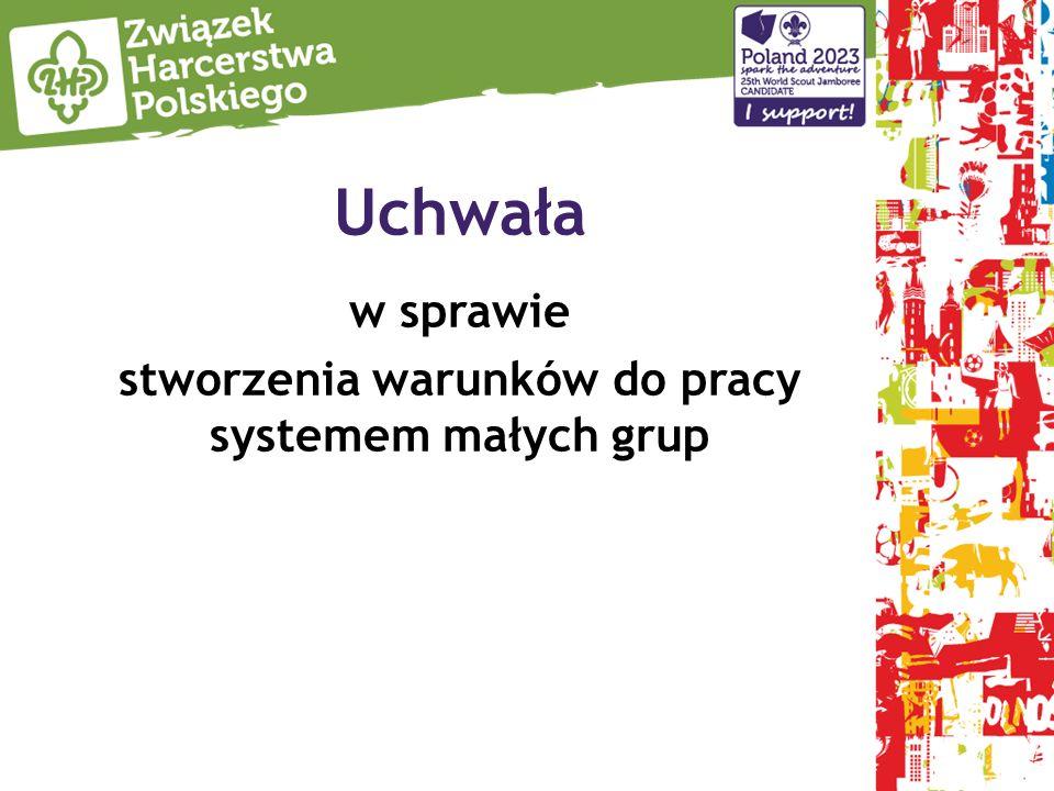 Uchwała w sprawie stworzenia warunków do pracy systemem małych grup