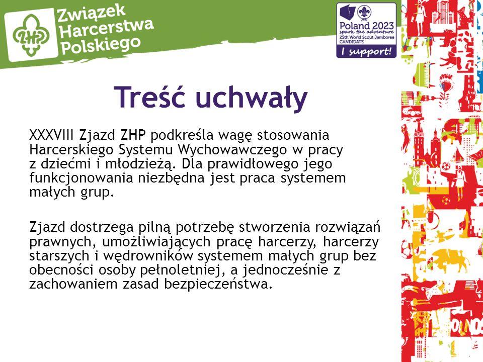 Treść uchwały XXXVIII Zjazd ZHP podkreśla wagę stosowania Harcerskiego Systemu Wychowawczego w pracy z dziećmi i młodzieżą.