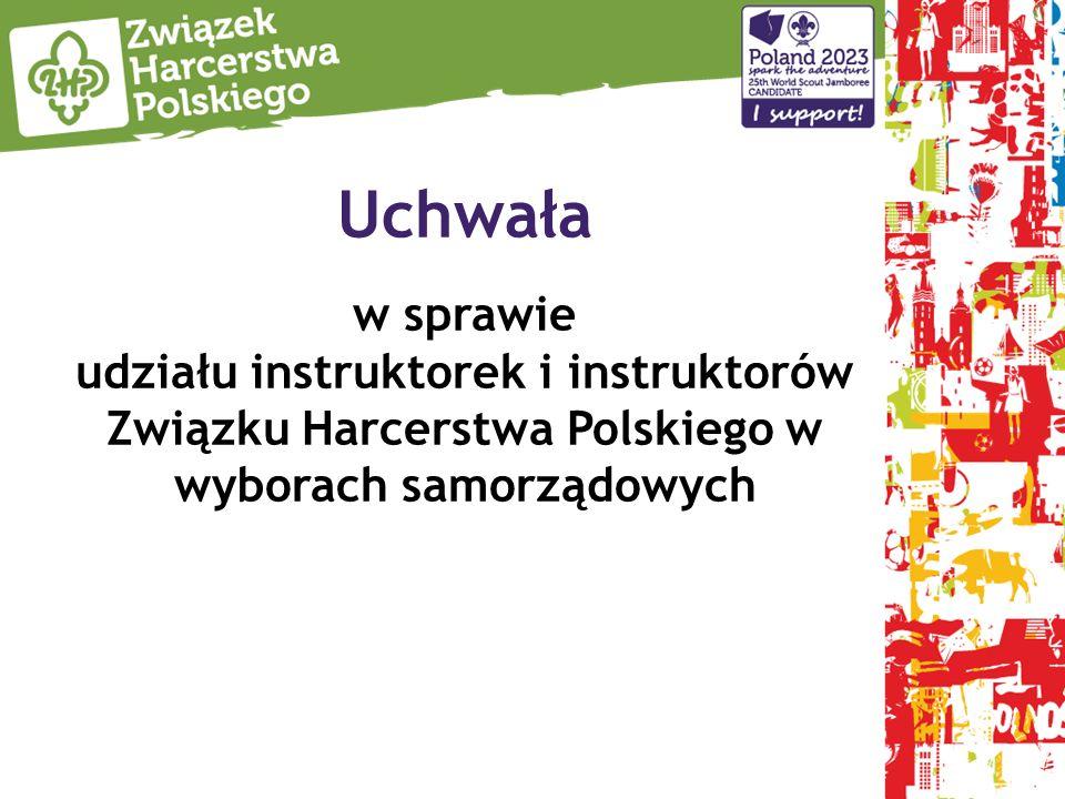 Uchwała w sprawie udziału instruktorek i instruktorów Związku Harcerstwa Polskiego w wyborach samorządowych