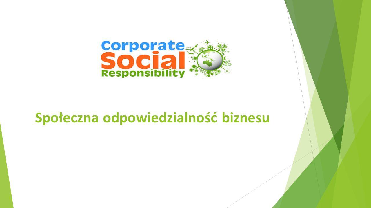 Celem prezentacji jest przedstawienie podstawowych założeń koncepcji społecznej odpowiedzialności biznesu (CSR), coraz częściej realizowanej przez współczesne przedsiębiorstwa.