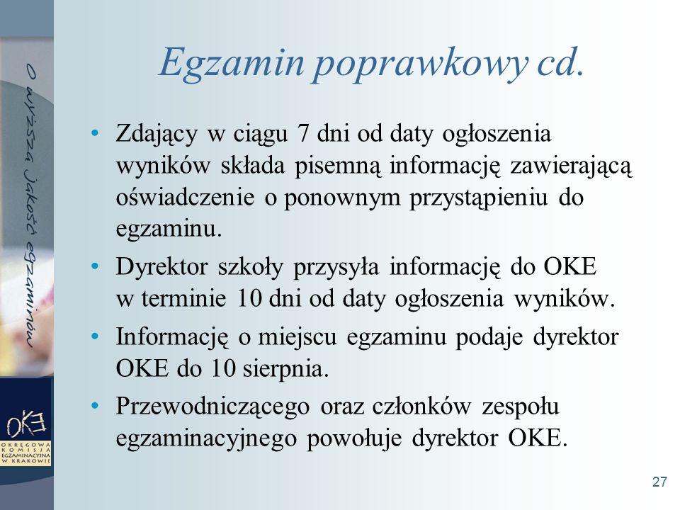 27 Egzamin poprawkowy cd.