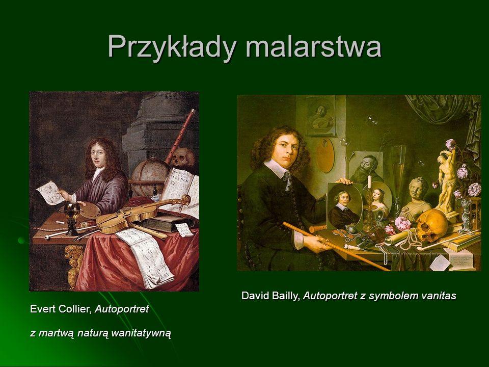 Przykłady malarstwa Evert Collier, Autoportret z martwą naturą wanitatywną David Bailly, Autoportret z symbolem vanitas