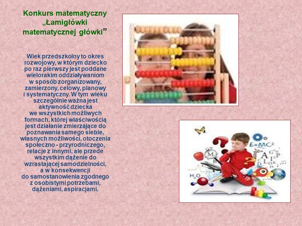 Łamigłówki matematycznej główki Miejskie Przedszkole nr 17 w Rudzie Śląskiej
