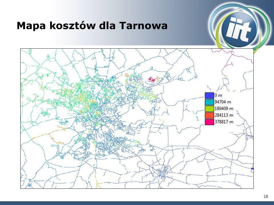 18 Mapa kosztów dla Tarnowa