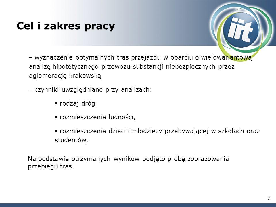 Obszar analiz – Kraków oraz okolice