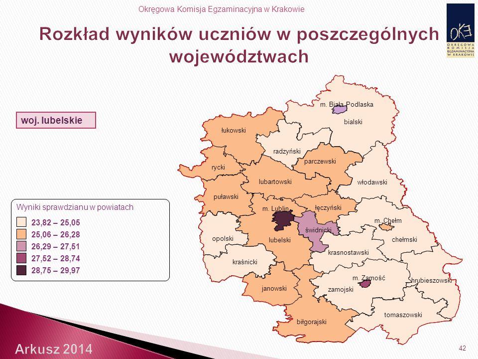 Okręgowa Komisja Egzaminacyjna w Krakowie 42 woj.