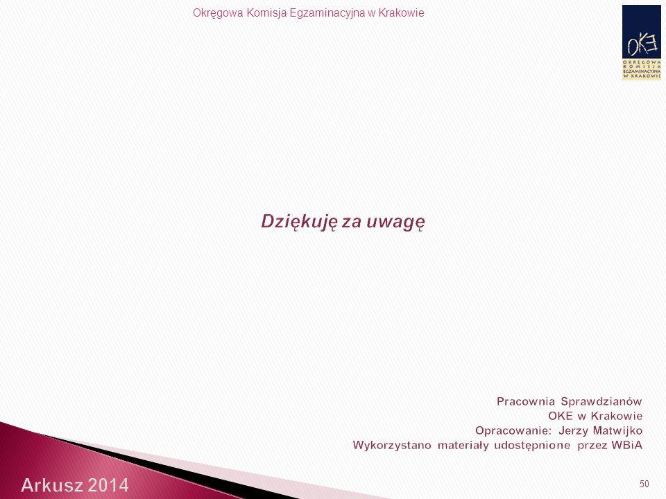 Okręgowa Komisja Egzaminacyjna w Krakowie 50