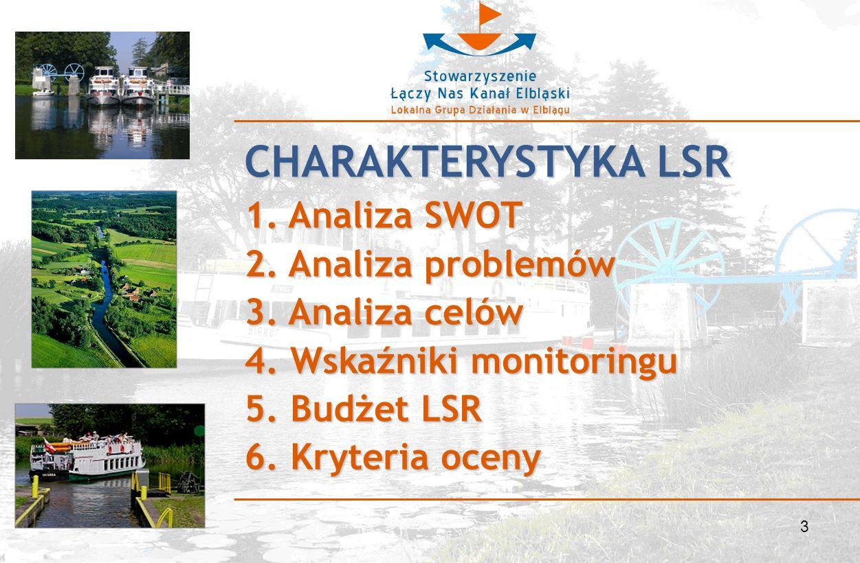 3 CHARAKTERYSTYKA LSR 1. Analiza SWOT 2. Analiza problemów 3.