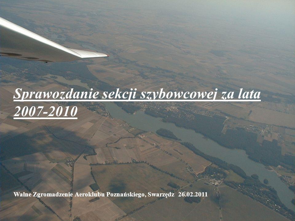 Sekcja Szybowcowa Sprawozdanie sekcji szybowcowej za lata 2007-2010 Walne Zgromadzenie Aeroklubu Poznańskiego, Swarzędz 26.02.2011
