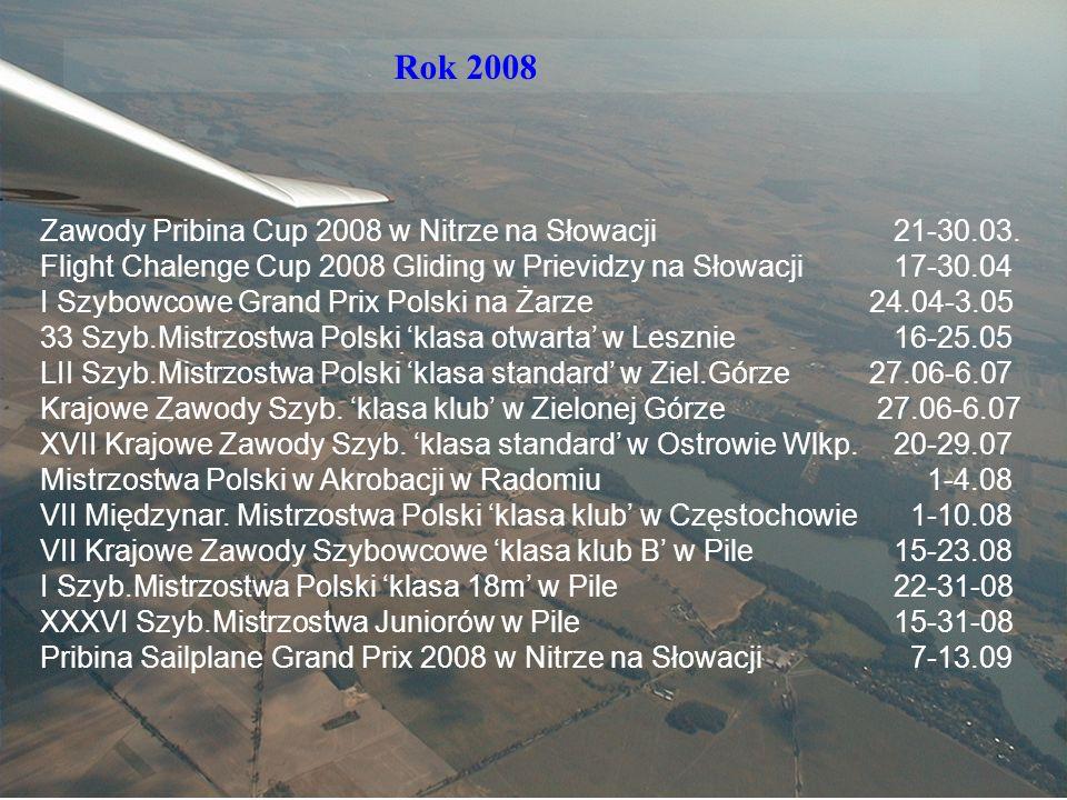 Sekcja Szybowcowa Rok 2008 Zawody Pribina Cup 2008 w Nitrze na Słowacji21-30.03.