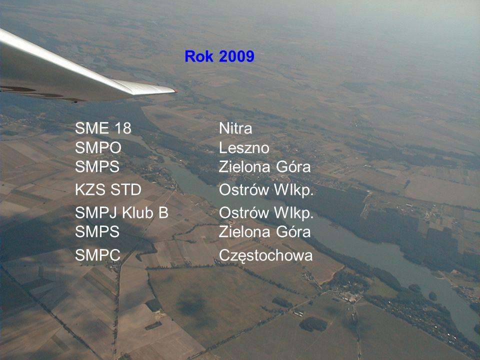 Sekcja Szybowcowa Rok 2009 SME 18 Nitra SMPO Leszno SMPS Zielona Góra KZS STD Ostrów Wlkp.