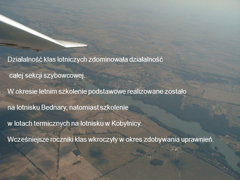 Sekcja Szybowcowa Działalność klas lotniczych zdominowała działalność całej sekcji szybowcowej.