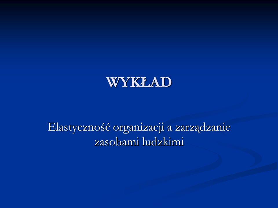 WYKŁAD Elastyczność organizacji a zarządzanie zasobami ludzkimi