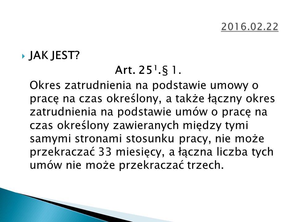  JAK JEST. Art. 25 1.§ 1.