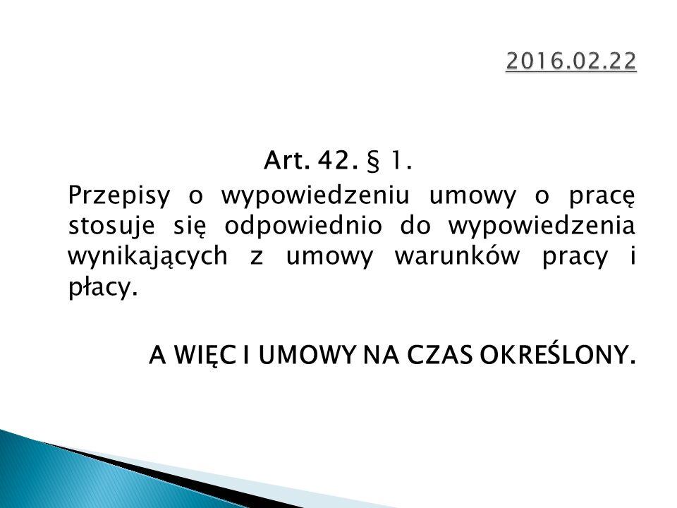 Art. 42. § 1.