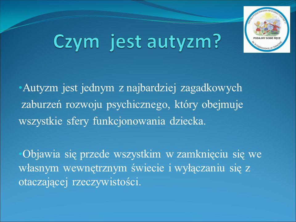 Autyzm jest jednym z najbardziej zagadkowych zaburzeń rozwoju psychicznego, który obejmuje wszystkie sfery funkcjonowania dziecka.