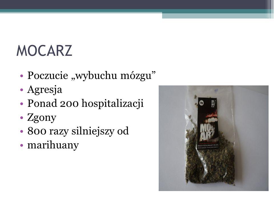"""MOCARZ Poczucie """"wybuchu mózgu Agresja Ponad 200 hospitalizacji Zgony 800 razy silniejszy od marihuany"""