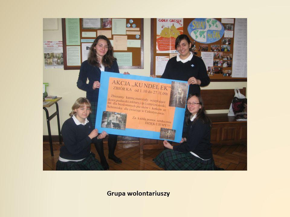 Grupa wolontariuszy