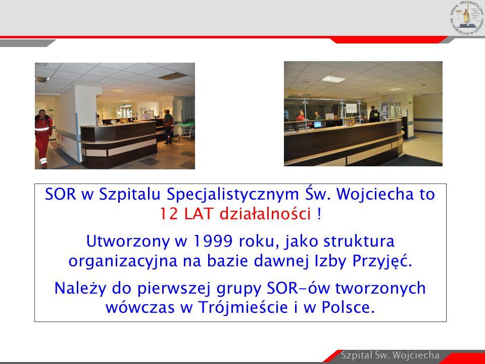 Szpital Św. Wojciecha SOR w Szpitalu Specjalistycznym Św. Wojciecha to 12 LAT działalności ! Utworzony w 1999 roku, jako struktura organizacyjna na ba