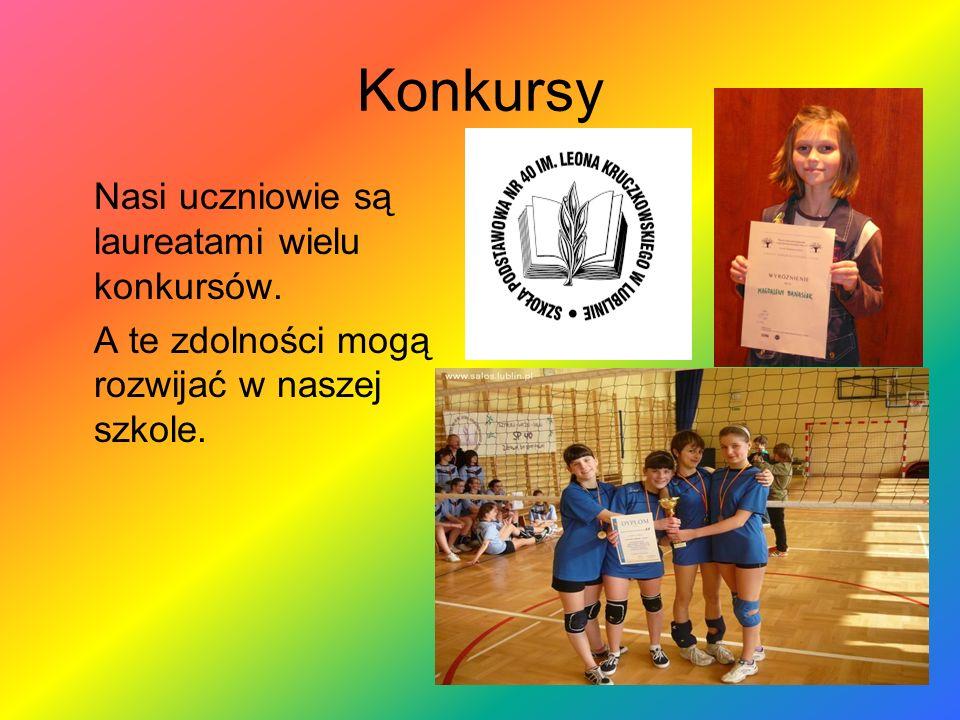 Konkursy Nasi uczniowie są laureatami wielu konkursów. A te zdolności mogą rozwijać w naszej szkole.
